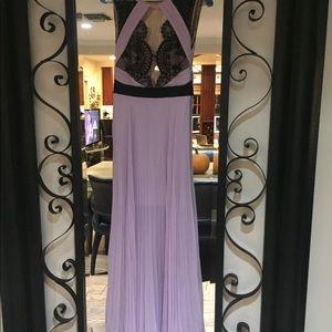 Size 0 petite BCBGMaxAzria  lavender gown